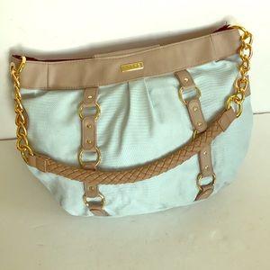 MICHE Marcy pale robin egg blue & tan shoulder bag